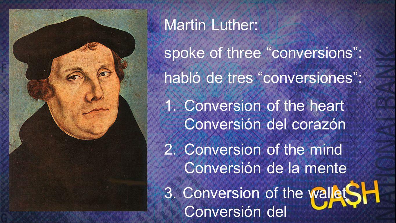 spoke of three conversions : habló de tres conversiones :