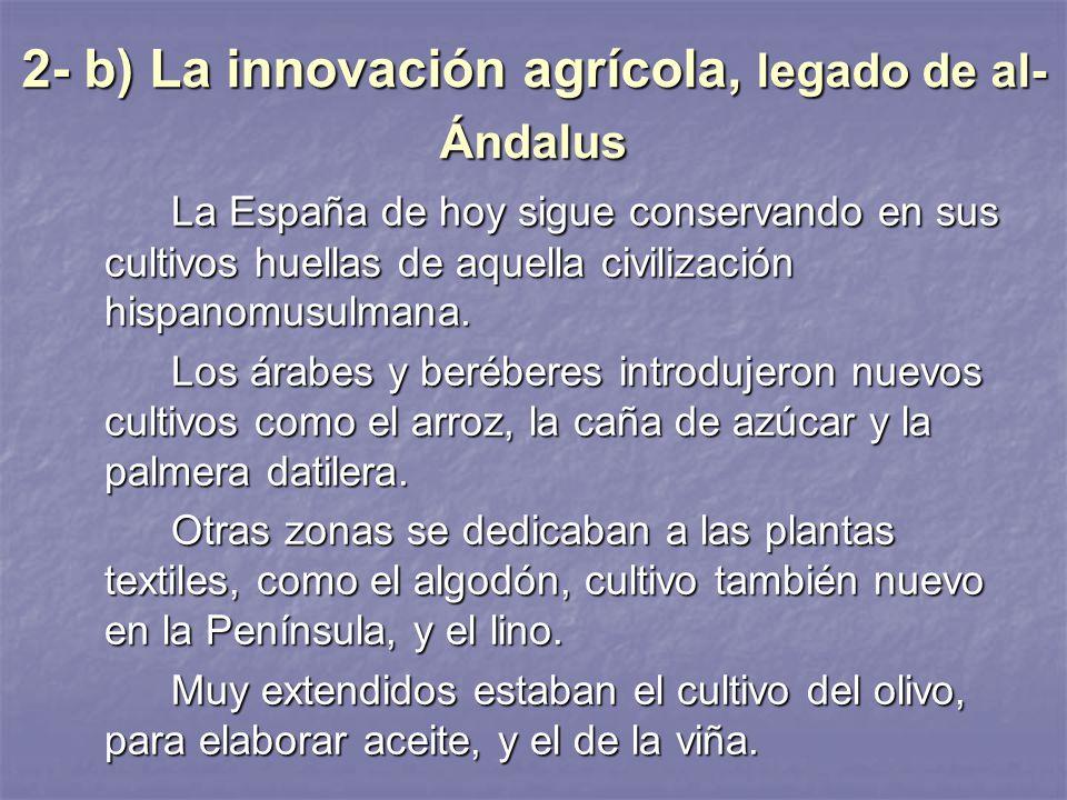 b la innovacin agrcola legado de alndalus