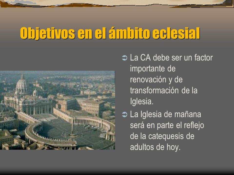 Objetivos en el ámbito eclesial