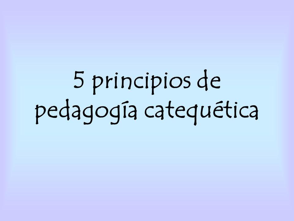 5 principios de pedagogía catequética