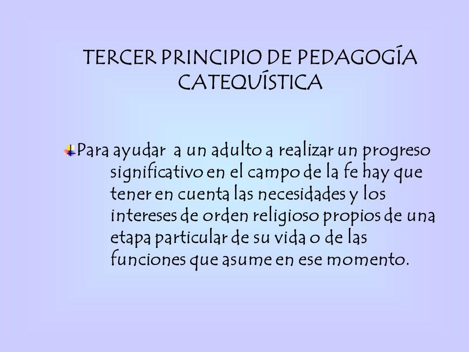 TERCER PRINCIPIO DE PEDAGOGÍA CATEQUÍSTICA