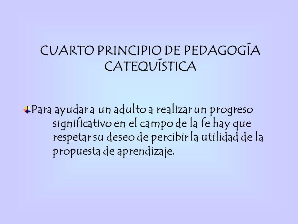 CUARTO PRINCIPIO DE PEDAGOGÍA CATEQUÍSTICA