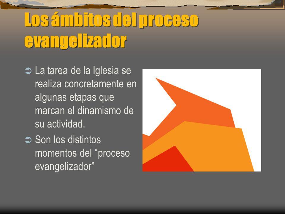 Los ámbitos del proceso evangelizador