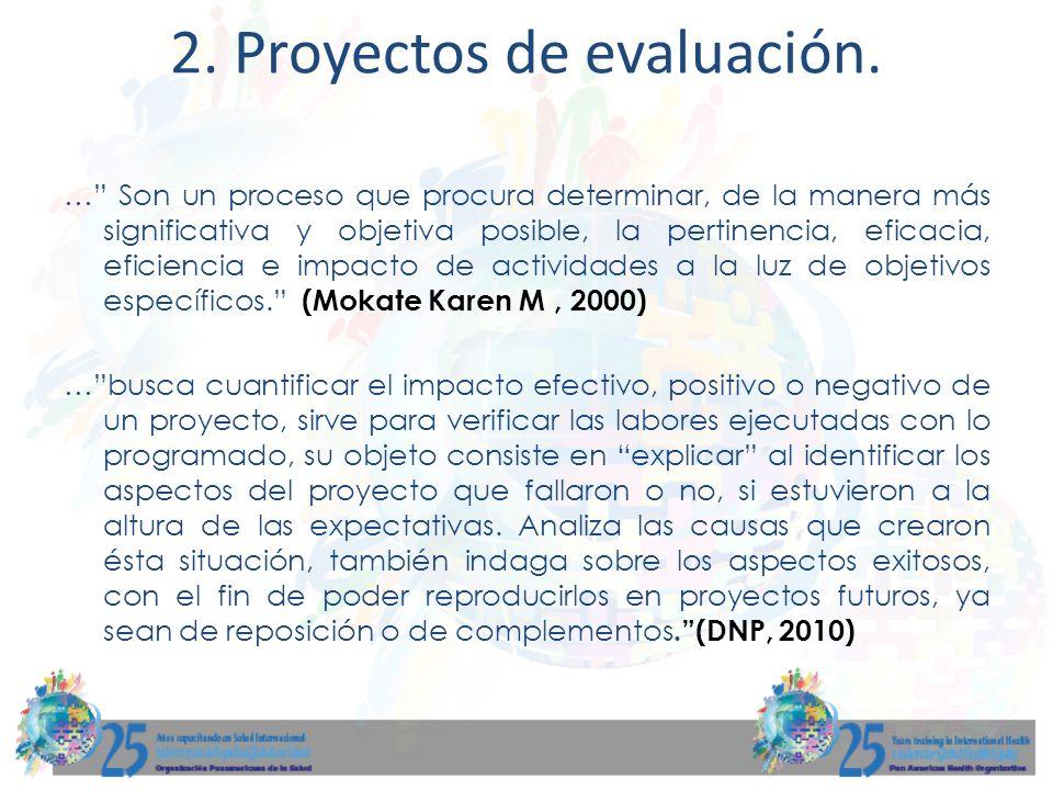 2. Proyectos de evaluación.