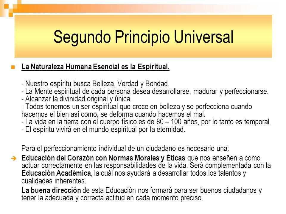 Segundo Principio Universal