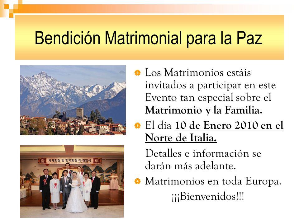 Bendición Matrimonial para la Paz