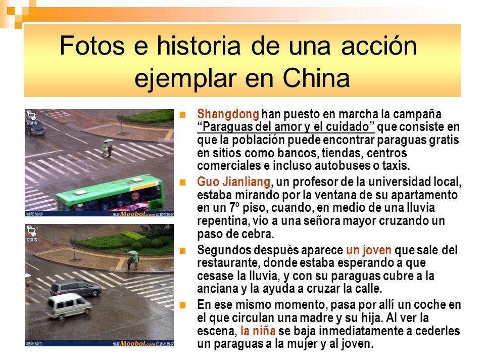 Fotos e historia de una acción ejemplar en China