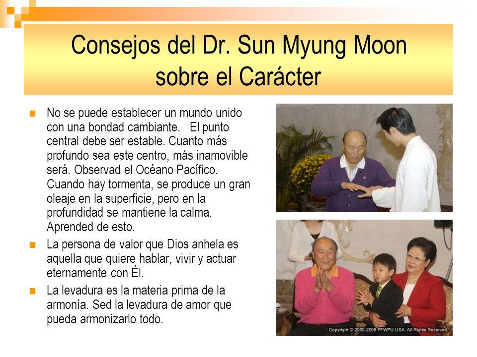 Consejos del Dr. Sun Myung Moon sobre el Carácter