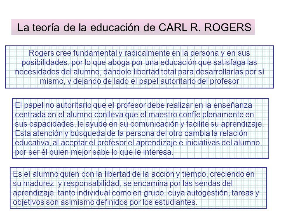 La teoría de la educación de CARL R. ROGERS