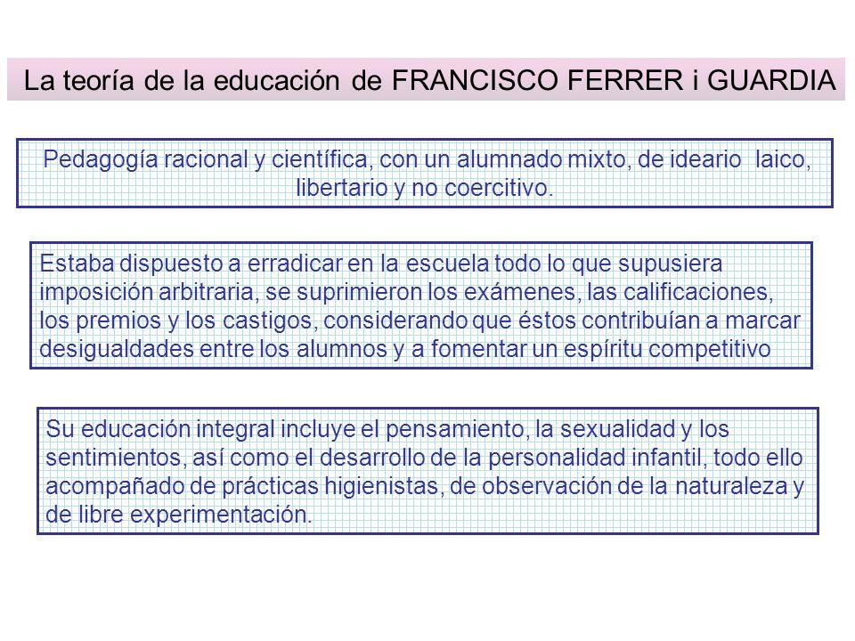 La teoría de la educación de FRANCISCO FERRER i GUARDIA