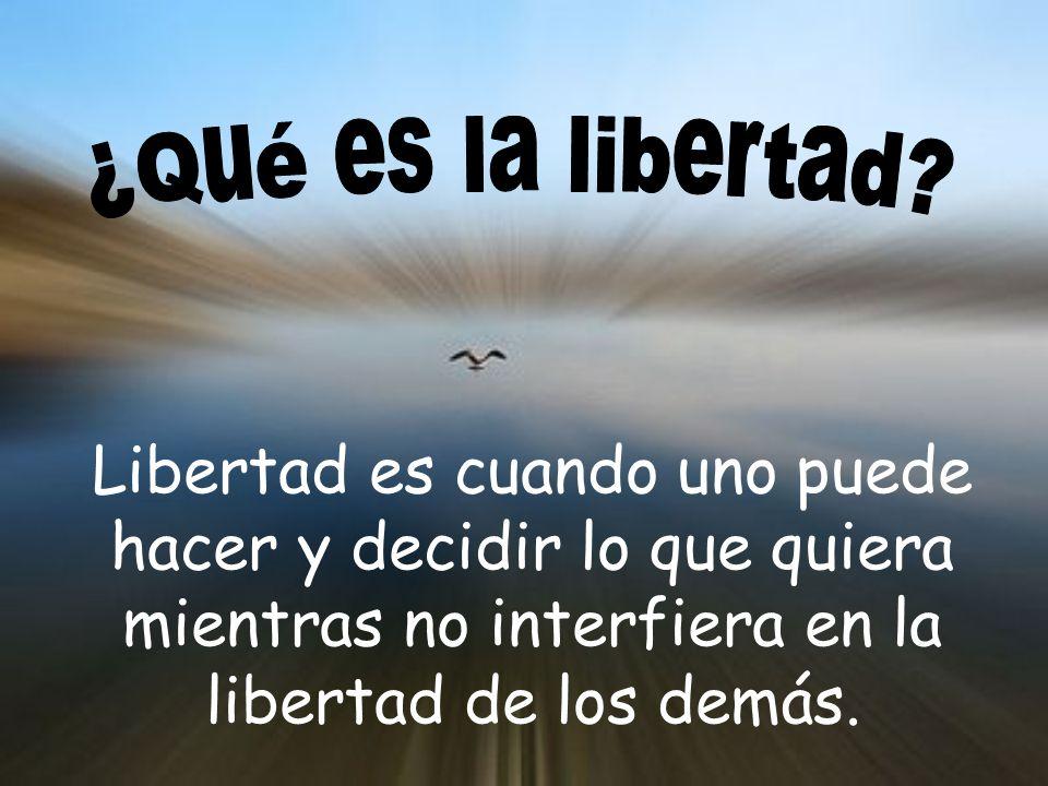 ¿Qué es la libertad.