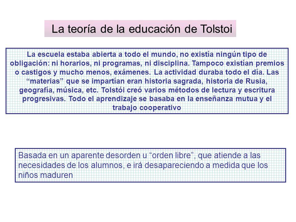 La teoría de la educación de Tolstoi