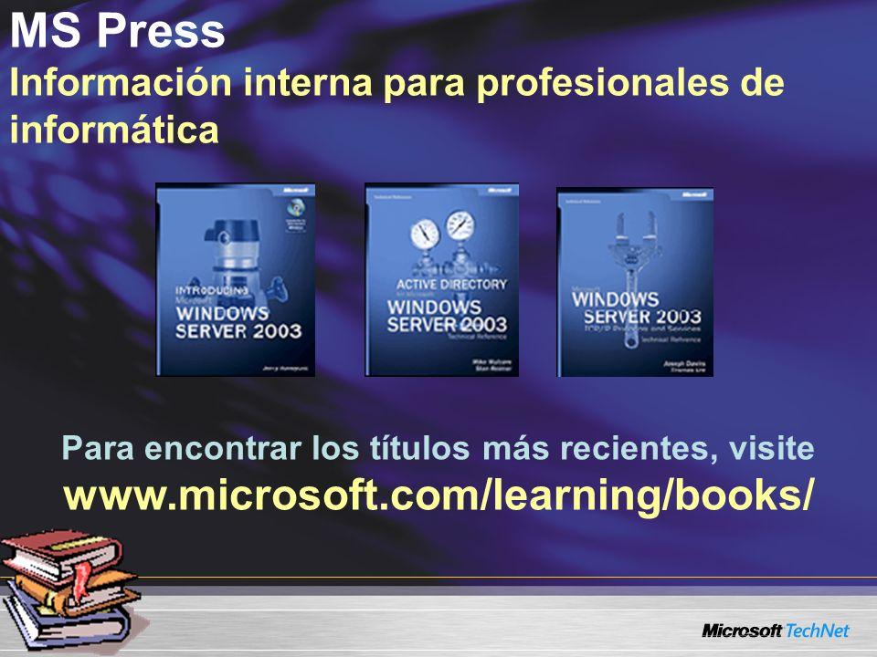 MS Press Información interna para profesionales de informática