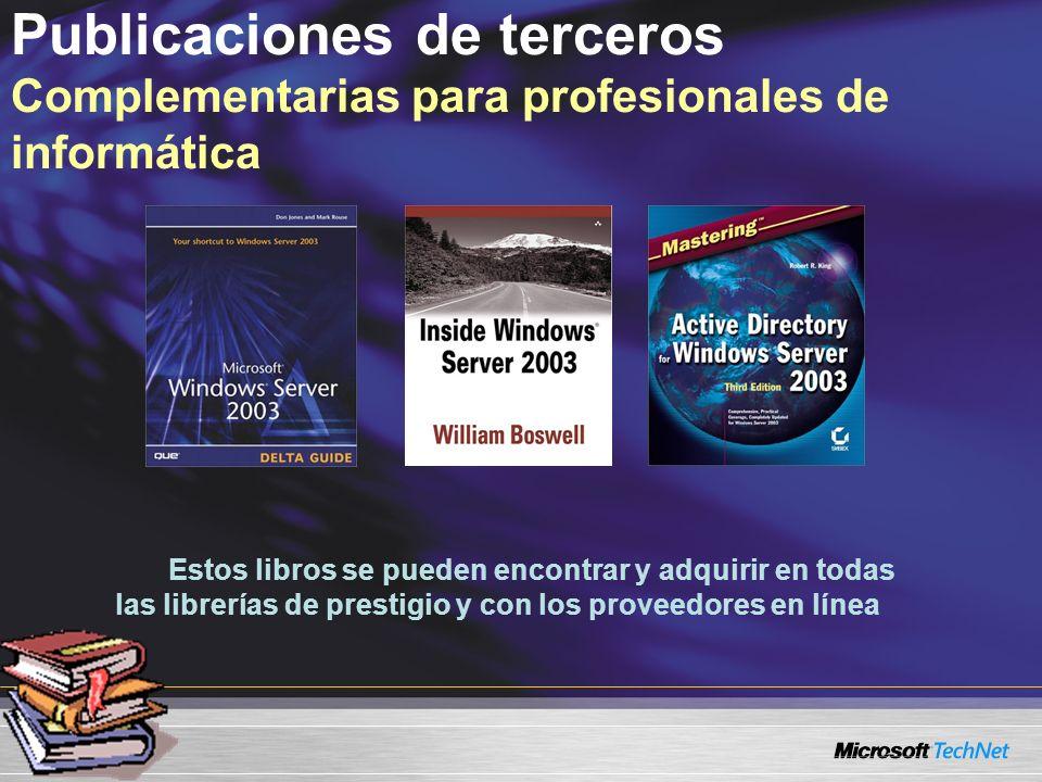 Publicaciones de terceros Complementarias para profesionales de informática