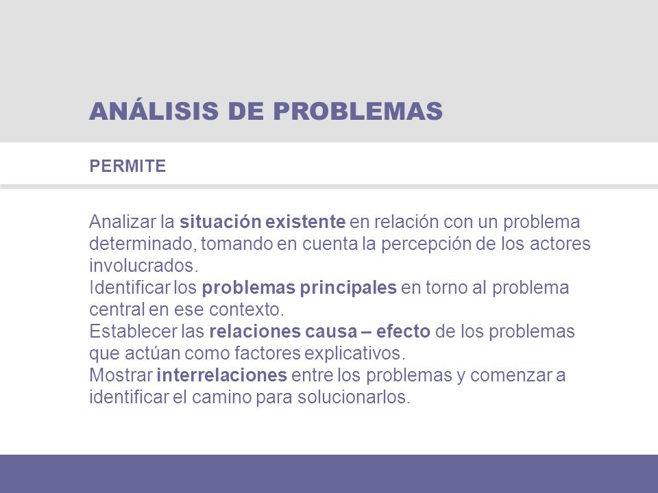 ANÁLISIS DE PROBLEMAS PERMITE.