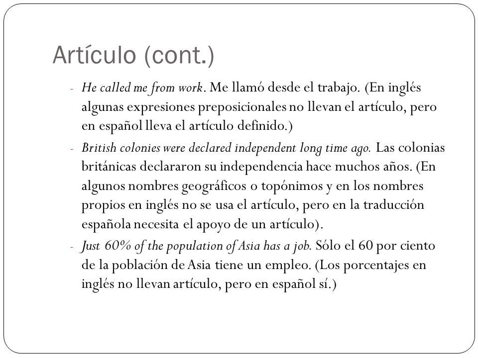 Artículo (cont.)