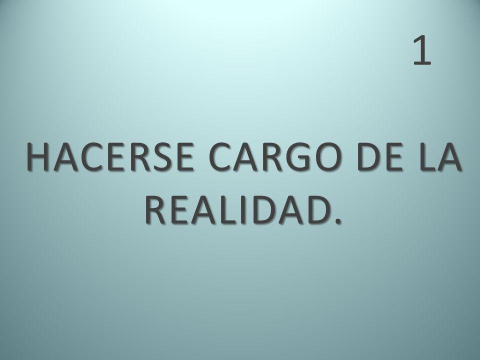 HACERSE CARGO DE LA REALIDAD.