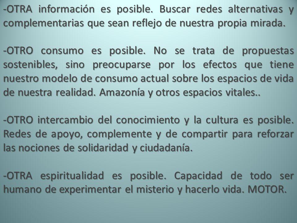 -OTRA información es posible