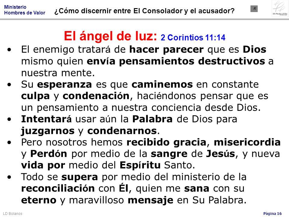 El ángel de luz: 2 Corintios 11:14