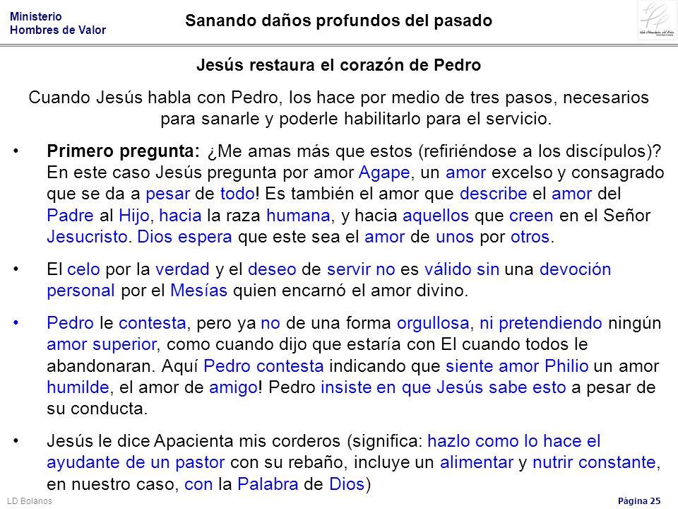Jesús restaura el corazón de Pedro