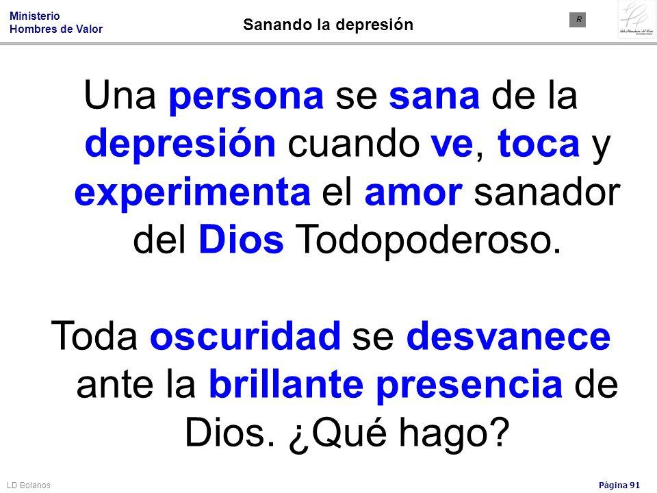 Sanando la depresión R. Una persona se sana de la depresión cuando ve, toca y experimenta el amor sanador del Dios Todopoderoso.