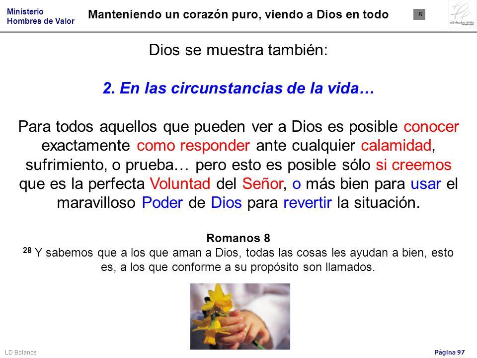 2. En las circunstancias de la vida…
