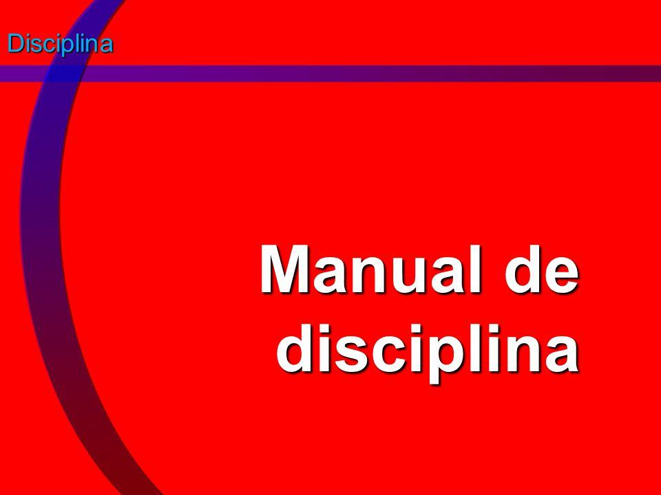 Disciplina Manual de disciplina