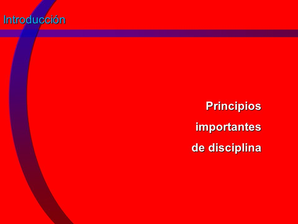 Principios importantes de disciplina