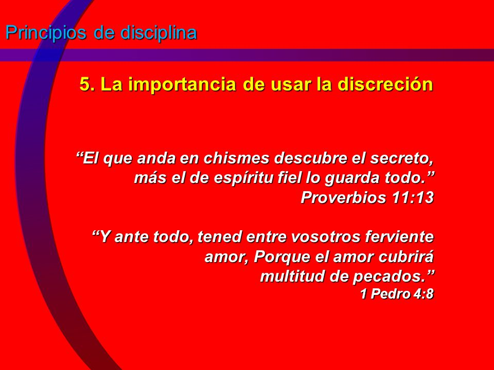 Principios de disciplina