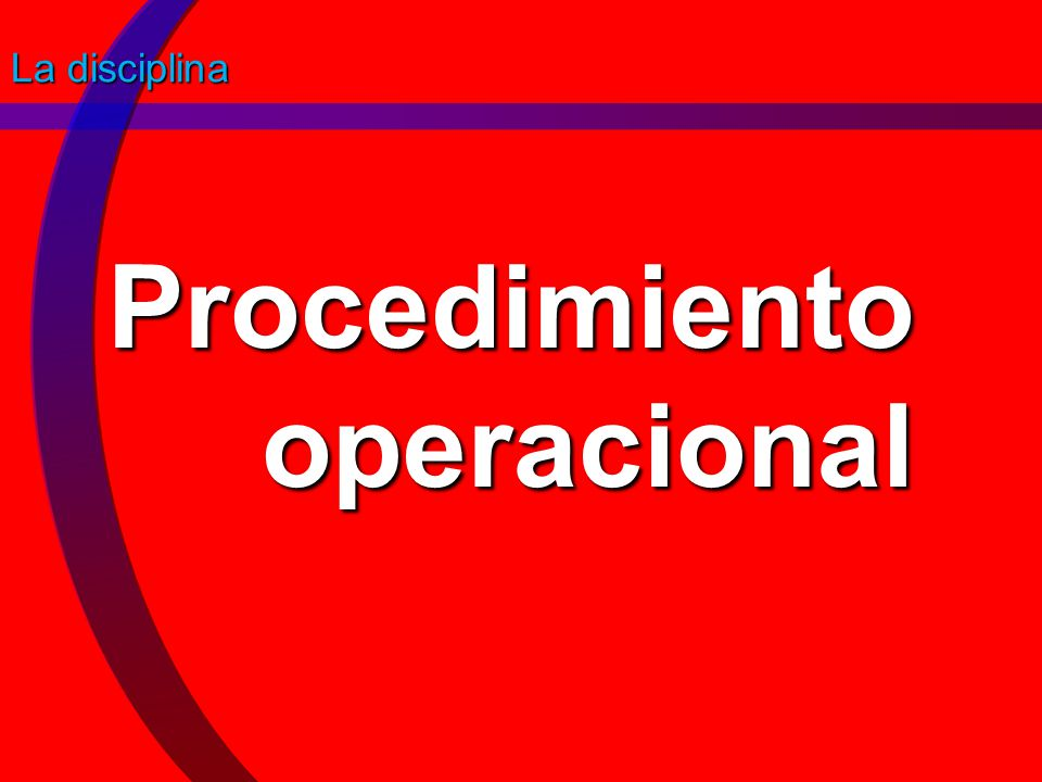 Procedimiento operacional