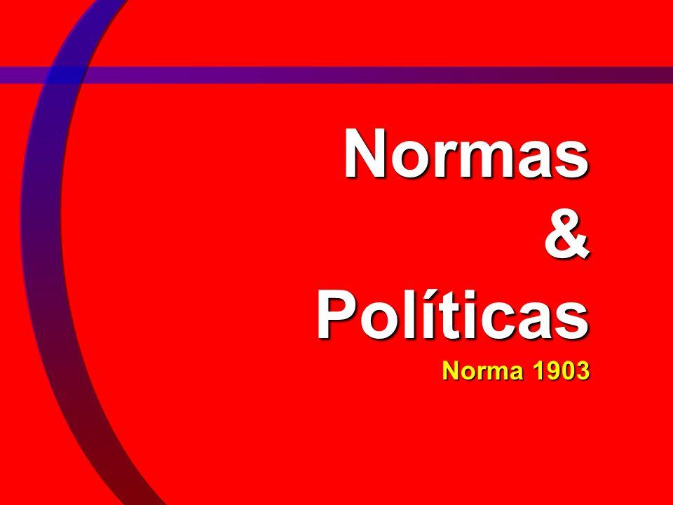Normas & Políticas Norma 1903