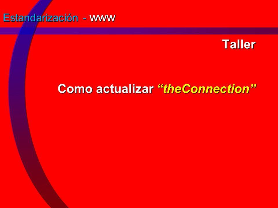 Taller Como actualizar theConnection