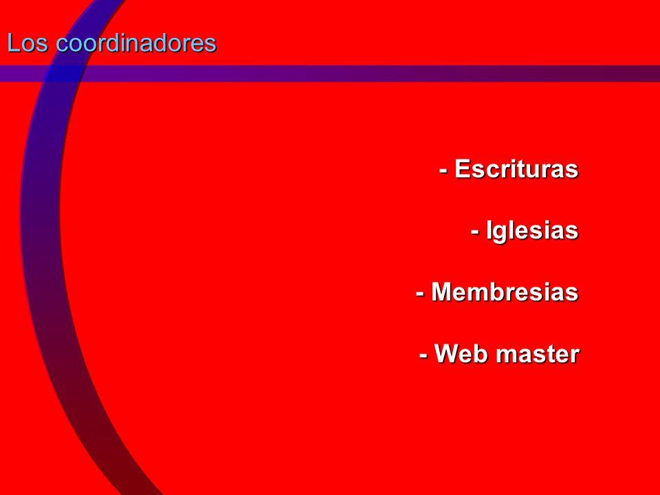 - Escrituras - Iglesias - Membresias - Web master