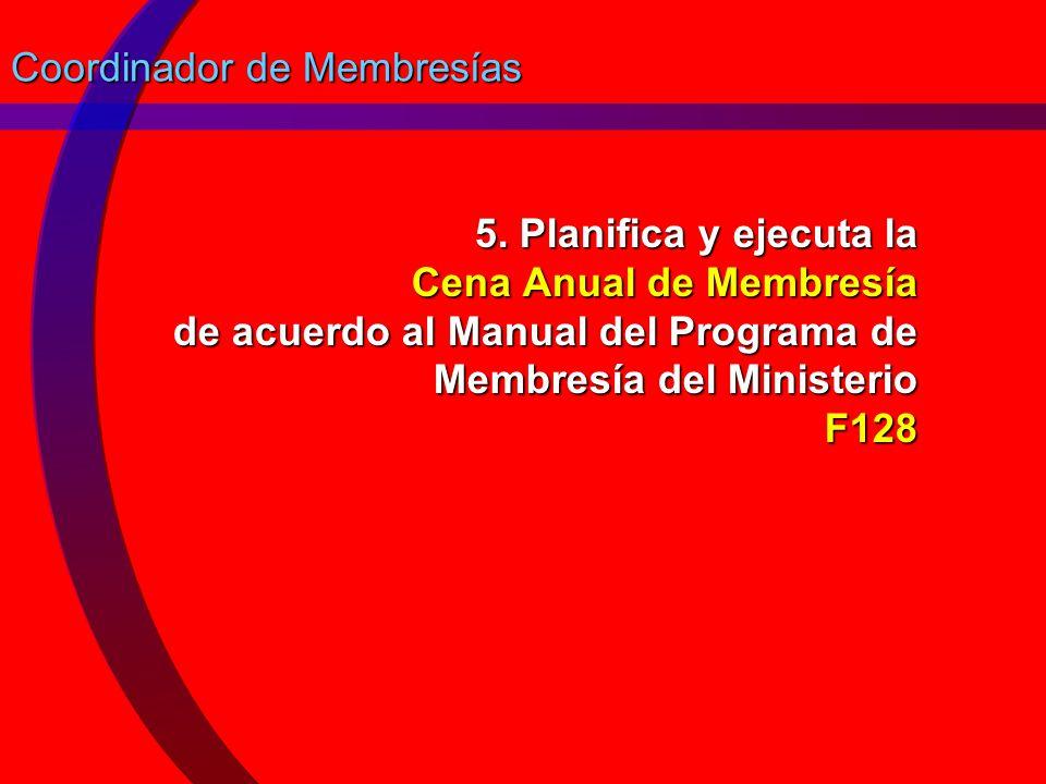 Coordinador de Membresías