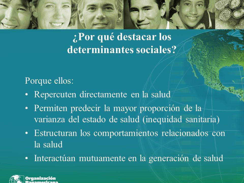¿Por qué destacar los determinantes sociales