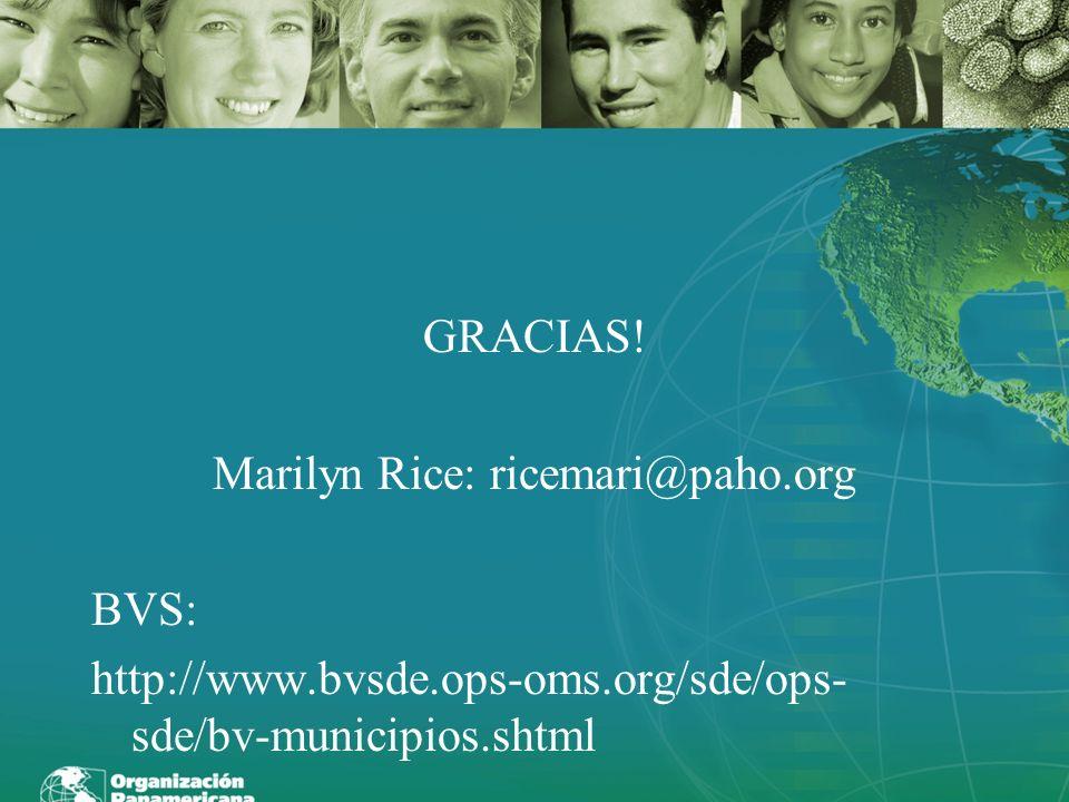 Marilyn Rice: ricemari@paho.org