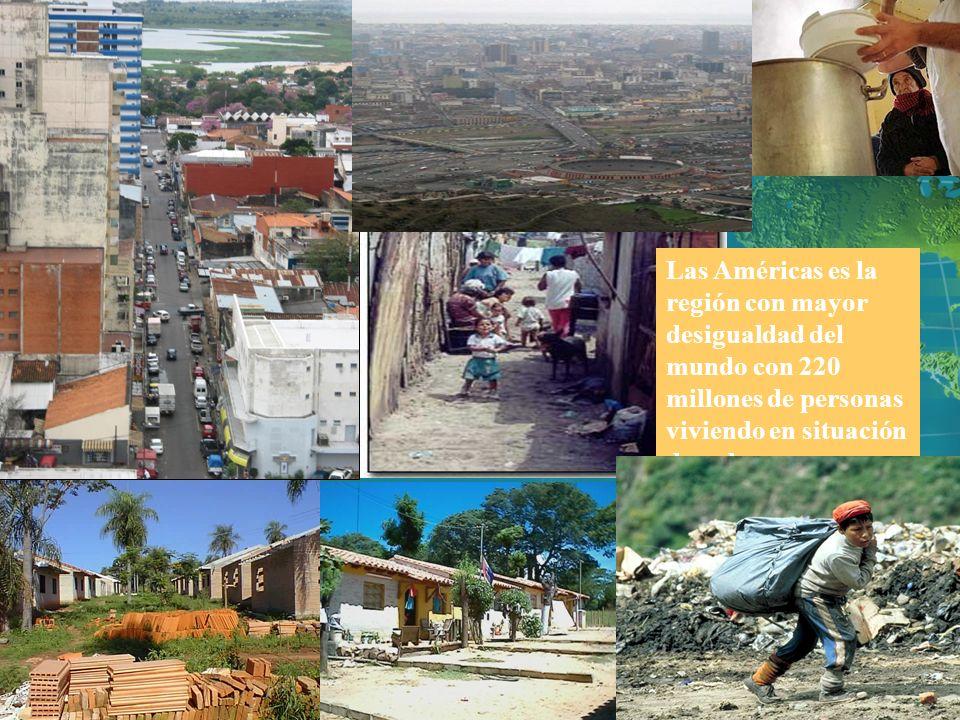 Las Américas es la región con mayor desigualdad del mundo con 220 millones de personas viviendo en situación de pobreza