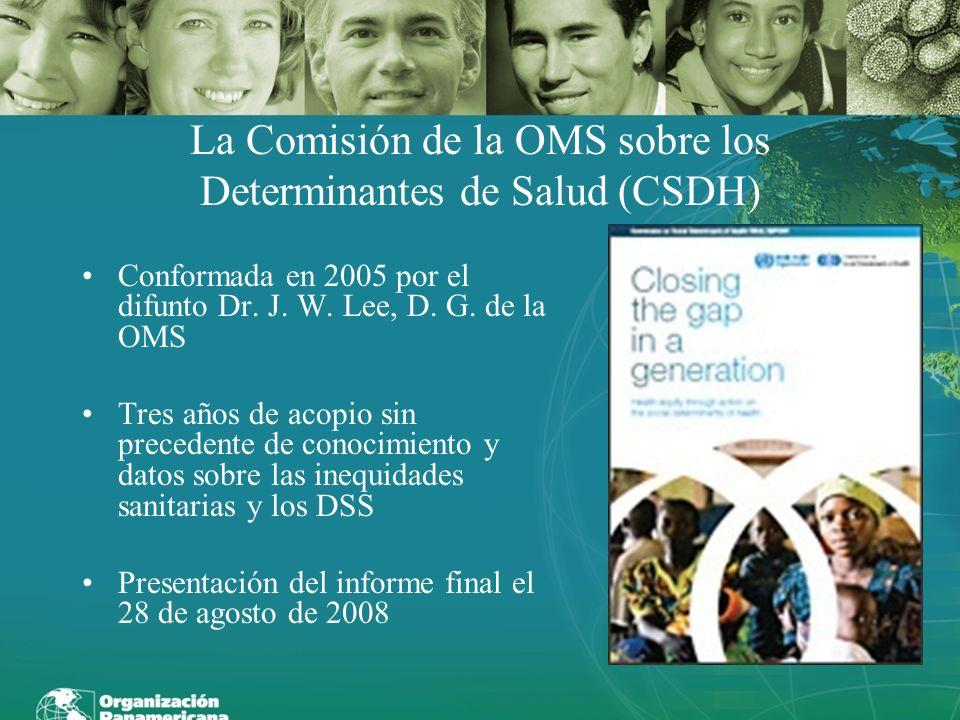 La Comisión de la OMS sobre los Determinantes de Salud (CSDH)