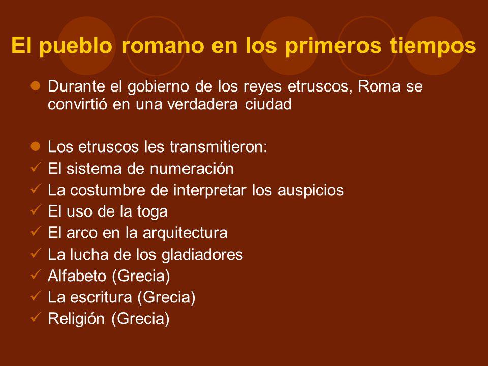 El pueblo romano en los primeros tiempos
