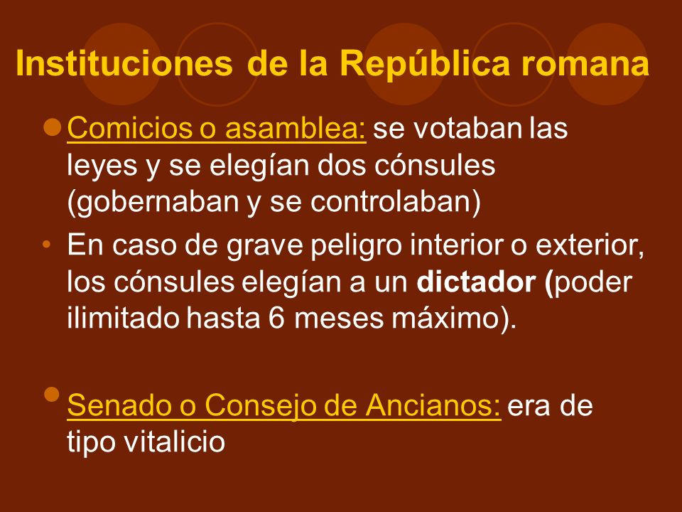 Instituciones de la República romana