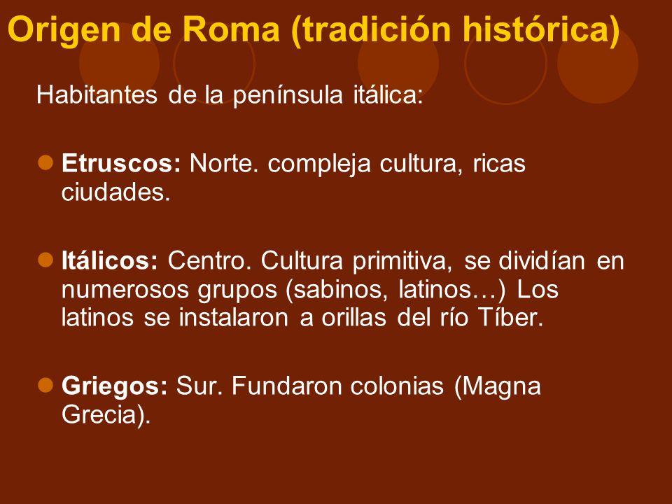 Origen de Roma (tradición histórica)
