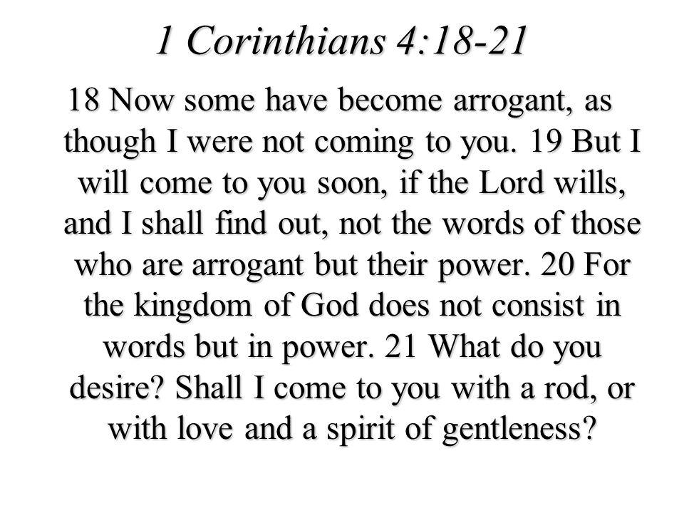 1 Corinthians 4:18-21