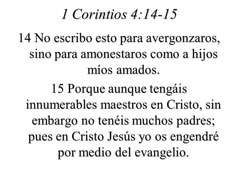 1 Corintios 4:14-15