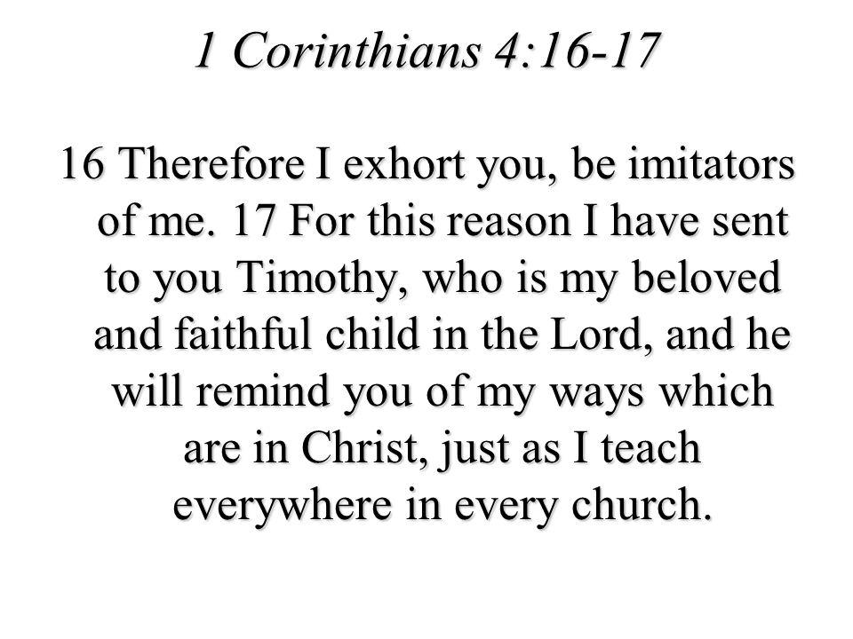 1 Corinthians 4:16-17