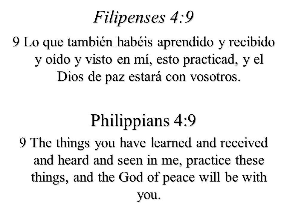 Filipenses 4:9 Philippians 4:9