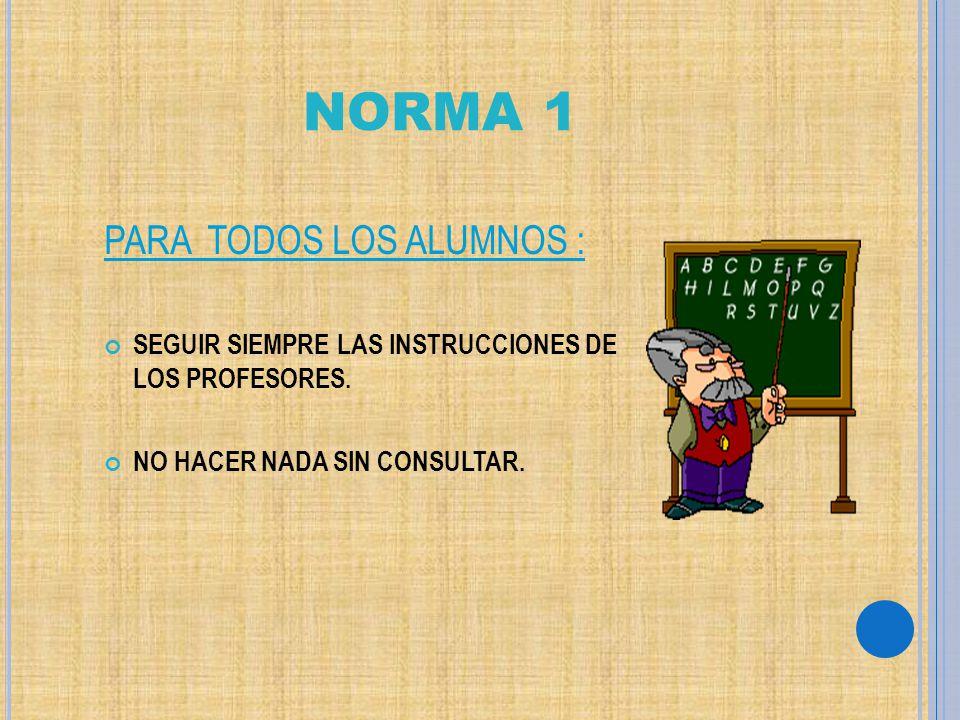 NORMA 1 PARA TODOS LOS ALUMNOS :