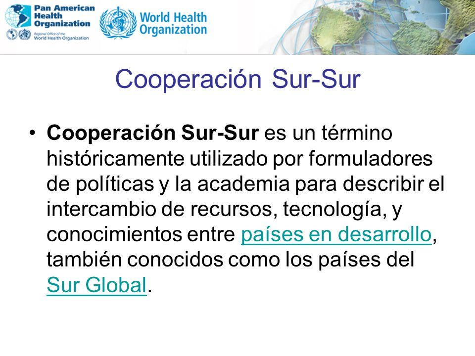 Cooperación Sur-Sur