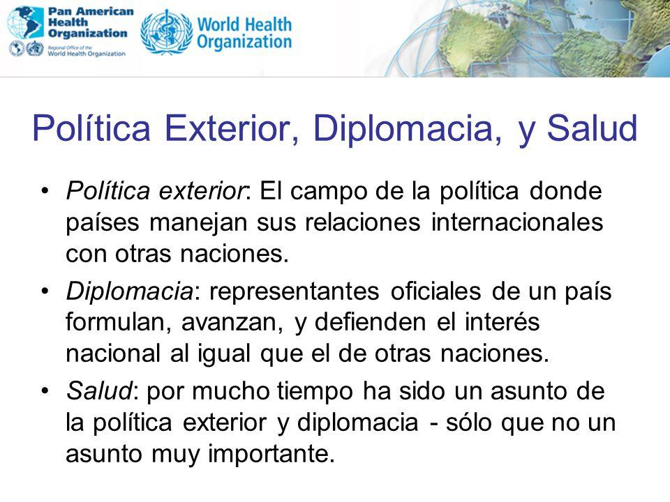 Política Exterior, Diplomacia, y Salud