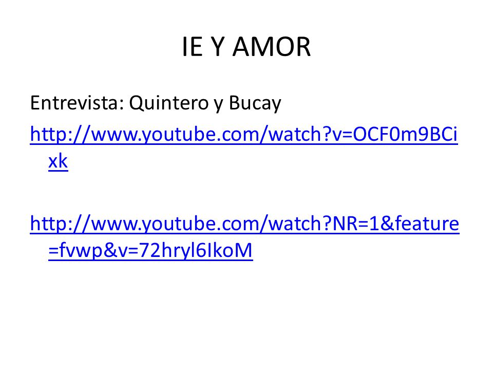 IE Y AMOR Entrevista: Quintero y Bucay