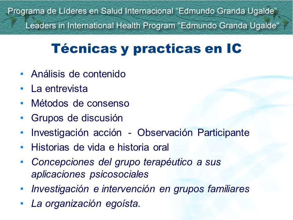 Técnicas y practicas en IC